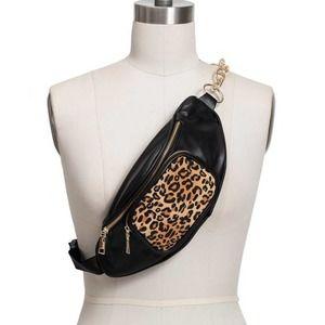 INC Faux Leather Animal Print Belt Bag Fanny Pack